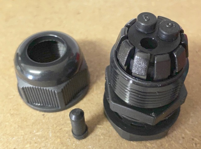 Mains cable gland